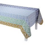 Le Jacquard Francais Mosaique Blue Tablecloth 69x126 , MPN: 24610, UPC: 3660269246105