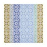 Le Jacquard Francais Mosaique Blue Napkin 23x23 , MPN: 24619, UPC: 3660269246198