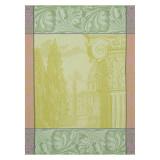 Le Jacquard Francais Baroque Jardin Green Tea Towel 24x31 , MPN: 24945, UPC: 3660269249458