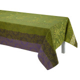 Le Jacquard Francais Bahia Green Coated Tablecloth 59x59 , MPN: 25232, UPC: 3660269252328