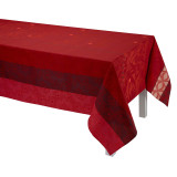 Le Jacquard Francais Bahia Red Coated Tablecloth 59x59 , MPN: 25233, UPC: 3660269252335