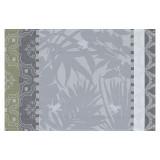 Le Jacquard Francais Bahia Grey Coated Placemat 20x14 , MPN: 25240, UPC: 3660269252403
