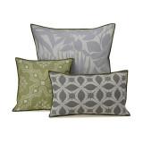 Le Jacquard Francais Bahia Grey Cushion Cover 12x20 , MPN: 25359, UPC: 3660269253592