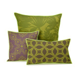 Le Jacquard Francais Bahia Green Cushion Cover 12x20 , MPN: 25360, UPC: 3660269253608