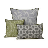 Le Jacquard Francais Bahia Grey Cushion Cover 16x16 , MPN: 25362, UPC: 3660269253622