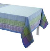 Le Jacquard Francais Sari Blue Tablecloth 69x98 , MPN: 25435, UPC: 3660269254353