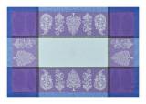 Le Jacquard Francais Sari Blue Placemat 21x15 , MPN: 25443, UPC: 3660269254438