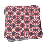 Le Jacquard Francais Bahia Red Paper Napkin 16x16 , MPN: 25508, UPC: 3660269255084