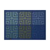 Le Jacquard Francais Kaleidoscope Illusion Blue Placemat 20x14 , MPN: 28005, UPC: 3660269280055