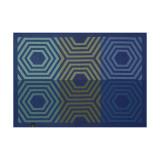Le Jacquard Francais Kaleidoscope Vibration Blue Placemat 20x14 , MPN: 28007, UPC: 3660269280079