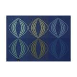 Le Jacquard Francais Kaleidoscope Vision Blue Placemat 20x14 , MPN: 28008, UPC: 3660269280086
