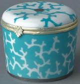 Raynaud Limoges Cristobal Turquoise Candle Box, MPN: 0120-33-606008, EAN: 3660006620885, UPC: