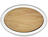 Reed and Barton Benchmark Oval Tray With Wd Board 22 MPN: 2206W UPC: 735092052063