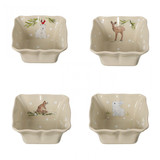 Casafina Deer Friends Set 4 Individual Square Bakers, MPN: DF638, UPC: 840289011430