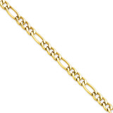 Chisel IP Gold-plated 6.30mm 20 Inch Figaro Chain - Stainless Steel SRN680GP