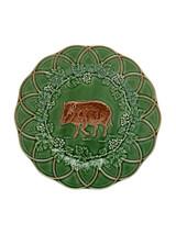 Bordallo Pinheiro Hunting Snack Plate 24 cm Boar Green Brown, MPN: 65003246, EAN: 5600876079749