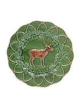 Bordallo Pinheiro Hunting Snack Plate 24 cm Deer Green Brown, MPN: 65003234, EAN: 5600876079787