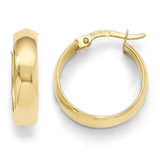 Polished Hinged Hoop Earrings - 10k Gold 10LE213 by Leslie's Jewelry