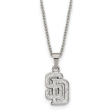 MLB San Diego Padres Pendant with 2 inch Extender Necklace Stainless Steel MPN: ST516PAD UPC: 191101222023