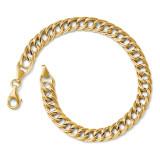 Facny Link Bracelet 7 Inch - 14k Gold 4059-7 by Leslie's Jewelry