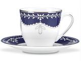 Marchesa Empire Pearl Indigo Espresso Cup Saucer Set, MPN: 843090, UPC: 882864477224