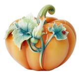 Franz Porcelain Box Pumpkin Lidded MPN: FZ03722, UPC: 817714016520