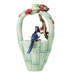 Franz Porcelain Vase Joy and Peace Magpie Limited Edition MPN: FZ03747, UPC: 817714016841