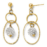 Post Dangle Swarovski Earrings - 14k Gold 80J by Leslie's Jewelry