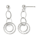 Post Dangle Earrings - 14k White Gold 93Q by Leslie's Jewelry