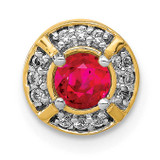 .25 Ruby Fancy Round Chain Slide 14k Gold Diamond MPN: PM3922-RU-007-YA UPC: