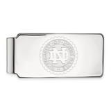 14kw University of Notre Dame Crest Money Clip 14k White Gold 4W070UND