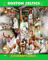 2007-08 Boston Celtics NBA Finals Champions PF Gold Limited Edition #5000 Framed Print with Glazing AAJY247-FG