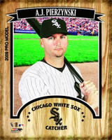 A.J. Pierzynski Chicago White Sox Stretched Canvas AAKX070-CS