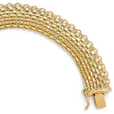 Polished Bracelet 8 Inch - 14k Gold LF331-8 by Leslie's Jewelry