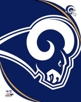 2018 Los Angeles Rams Logo Framed Print with Glazing AAVL245-FG