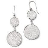 Polished & Textured Dangle Earrings - Sterling Silver QLE309