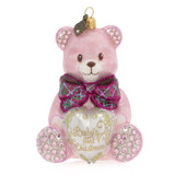 Jay Strongwater Baby's First Christmas Teddy Glass Ornament, MPN: SDH2044-206, UPC: 848510024723