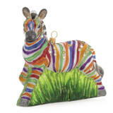 Jay Strongwater Zebra Glass Ornament, MPN: SDH2072-202, UPC: 848510039307