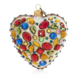 Jay Strongwater Bejeweled Heart Glass Ornament, MPN: SDH2123-250, UPC: 848510024600