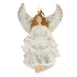 Jay Strongwater Peace On Earth Angel Glass Ornament, MPN: SDH2243-283, UPC: 848510024631
