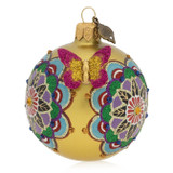 Jay Strongwater Mandala 3 Inch Glass Ornament, MPN: SDH2305-250, UPC: 848510024563