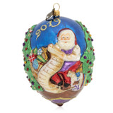 Jay Strongwater 2019 Santa Glass Ornament, MPN: SDH2321-250, UPC: 848510024662