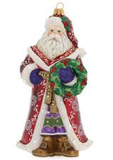 Jay Strongwater Santa Glass Ornament, MPN: SDH2325-250, UPC: 848510024655