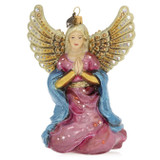 Jay Strongwater Angel Kneeling Glass Ornament, MPN: SDH2326-250, UPC: 848510024624