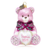 Jay Strongwater Personalized Baby's First Christmas Teddy Glass Ornament, MPN: SDH2337-206, UPC: 848510039260