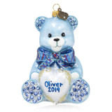 Jay Strongwater Personalized Baby's First Christmas Teddy Glass Ornament, MPN: SDH2337-225, UPC: 848510024716