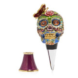 Jay Strongwater Skull Wine Stopper And Stand, MPN: SDH6646-289, UPC: 848510024358