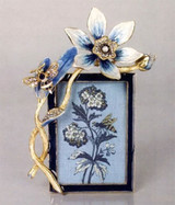 Jay Strongwater 2X3 Bouquet Picture Frame Blue & White, MPN: SPF5671-284, UPC: 848510014304