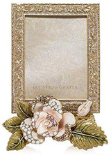 Jay Strongwater Belle Rose 3 X 4 Inch Picture Frame, MPN: SPF5869-258, UPC: 848510023733