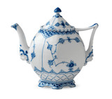 Royal Copenhagen Blue Fluted Full Lace Tea Pot 1Qt, MPN: 1017228, EAN: 5705140159322